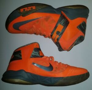 Nike LeBron James Zoom Soldier VI 6 Basketball Shoes Mens 12 Orange 525015-800