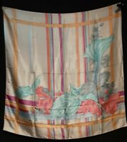 Extra Large 1970's Art Deco Style Scarf (35 x 35)