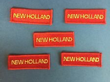 5 Lot Rare Vintage Ford New Holland Tractors Farmer Hat Jacket Patches Crests B