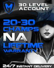 League of Legends | LoL Account | NA | LVL 30+ | 20-30 Champions | Unranked |