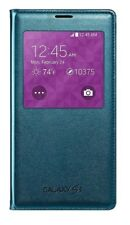 Samsung S-View Flip Cover Folio Case For Samsung Galaxy S5 Case Green NEW