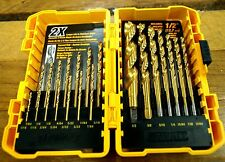 DeWALT 21 Piece Titanium Pilot Point Drill Bit Set AF In Case Metal Wood Plastic