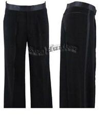MP06 men's Ballroom Latin Salsa Dance Pants Competition Dance Trousers black