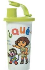 Tupperware Dora Safari Tumbler w/ Liquid Tight Flip Top Drink Seal Green New