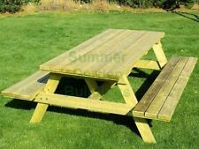 Unbranded Wooden Up to 6 Seats Garden & Patio Benches