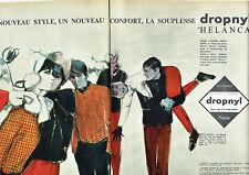 Publicité Advertising 108  1962   vetements de ski par Goude  (2 pages) dropnyl