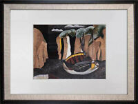 "Georges BRAQUE Limited Edition Lithograph SIGN ""Les Falaises""w/Archival Frame"