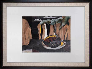 """Georges BRAQUE Limited Edition Lithograph SIGN """"Les Falaises""""w/Archival Frame"""