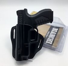 For SPRINGFIELD XD 9/40 | BIANCHI 57 REMEDY OWB RH LEATHER BLACK HOLSTER LH LEFT