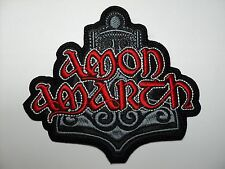 AMON AMARTH SHAPED   LOGO  EMBROIDERED PATCH