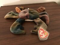 Authentic Rare TY Beanie Baby CLAUDE The Crab with errors!!