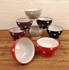 Set of 8 10oz Dotty Mugs Assorted Colours