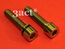 2 - M5 x 22mm Gold Titanium Bolt w/ Ti Washer fit FSA, Thomson, Race Face Stem