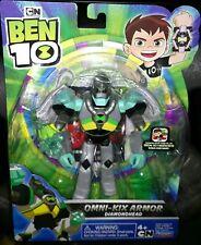 "BEN 10 CARTOON NETWORK OMNI-KIX ARMOR DIAMONDHEAD 4"" ACTION FIG. W/BONUS CODE!"