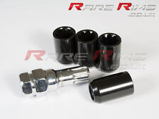 Black Tuner Locking Nuts x4 12x1.5 Fits Toyota Starlet Celica Mr2 Supra Rav4