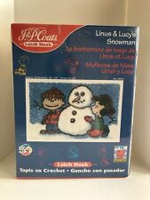 New listing Linus & Lucy Snowman P&J Coats Latch Hook Kit