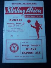 STIRLING ALBION V DUNDEE LEAGUE CUP 22/8/1953