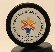 2002 WINTER OLYMPIC GAMES COLLECTOR'S SOUVENIR HOCKEY PUCK - SALT LAKE CITY