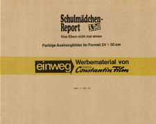 Schulmädchen-Report 3. Teil ORIGINAL Umschlag des deutschen Erotik-Klassikers