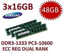 3x 16gb 48gb ddr3 RAM servidores HP ProLiant bl460c g6 Samsung memoria pc3-10600r