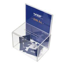 HMF Spendenbox 46916 Aktionsbox Losbox DIN A4 Spendendose Acryl 2.wahl