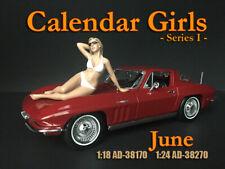 American Diorama 1:18 Scale (10 cm) Figure - Calendar Girl June # AD-38170