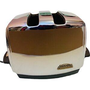 Vintage Sunbeam Chrome Radiant Control Toaster T-35 Auto Drop Tested / Works