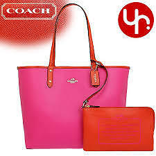 Coach Bag F36609 Reversible City Tote in Coated Canvas Agsbeagle COD