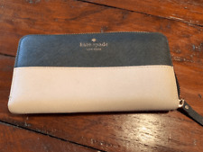 Kate Spade Two-Tone Grey and Pink Wallet