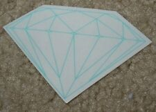 DIAMOND SUPPLY CO Logo Skate Sticker Rock Fine Blue skateboards helmets decal