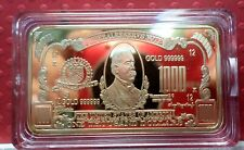Gold Clad $1000 Collectors Bar Grover Cleveland NEW in capsule!  AB -010