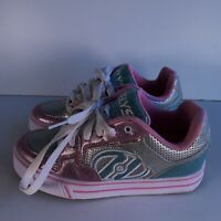 Heelys Fats Style 770541 Pink Trainers Skate Shoes Size UK 2 EUR 34