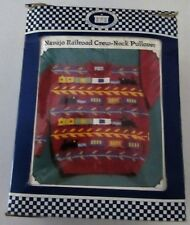 Vintage Adult NAVAJO RAILROAD CREW NECK PULLOVER Knitting Kit