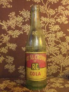 Vintage 1954 Royal Crown R C Bottle 10oz Henderson Ky G2861 9 54 28 Daraglas