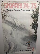 Original Vintage Airline Air Canada travel poster Ski Europe USA Rare