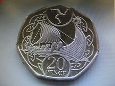 ISLE OF MAN 20p NEW coin - Viking Ship 2017 MANX - NEW coin of Europe