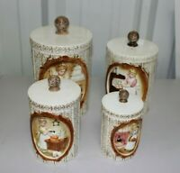 Vintage Canister Set (4) 1978 Sears Roebuck and Company - Japan - Pioneer Woman