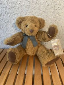 """Russ Berrie #2112 CHADFIELD, VINTAGE COLLECTION 13"""" Teddy Bear CERTIFICATE"""