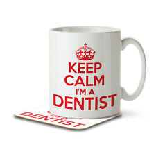 Keep Calm I'm a Dentist - Mug and Coaster by Inky Penguin