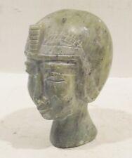 Ägypische Déité Stéatite Pierre Buste Tête Sculpture - Objet de Collection