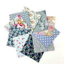 100% Cotton Fabric Charm Pack 50 Rotary Cut 5 inch Squares in Vintage Blues