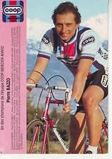 CYCLISME carte cycliste PIERRE BAZZO équipe COOP MERCIER MAVIC 1983