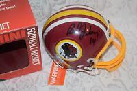 Washington Redskins Brad Johnson #14 Signed Riddell Mini Football Helmet NEW