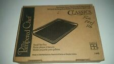 """Pampered Chef Small Bar Pan Toaster Oven Stoneware 9""""x7"""" #1448 Unused"""