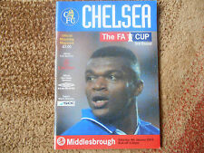 Chelsea vs Middlesbrough matchday magazine (Premiership 2002-03)