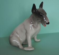 Porcelain Figurine Dog Bull terrier.Hand Painted