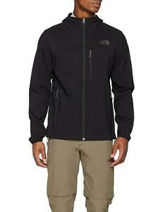 NEW MENS LARGE BLACK THE NORTH FACE NIMBLE HOODIE SOFTSHELL FULL ZIP JACKET