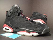 09 Nike Air Jordan VI 6 Retro BLACK VARSITY FIRE RED BRED WHITE 384664-061 11.5