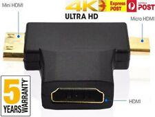 3 in 1 HDMI v1.4 Female to Mini And Micro HDMI Adapter Converter Connector w/ 4K
