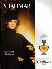 ▬► Parfum GUERLAIN Shalimar Thompson Original French Print ad Publicité 1989